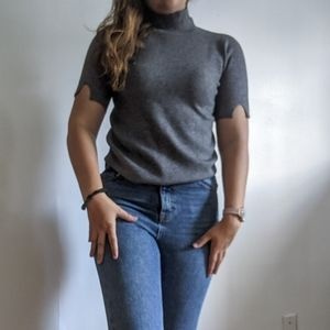NWT Short sleeve Heather grey turtleneck